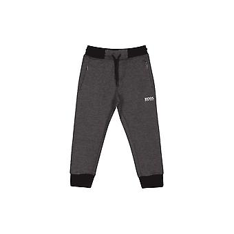 Hugo Boss Boys Hugo Boss Boy's Dark Grey Jogging Bottoms
