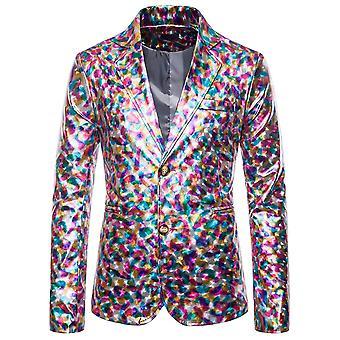 Allthemen Uomini's Blazer Bright Color Slim Fit Banchetto Casual Suit Giacca