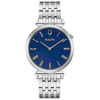 Bulova 96a233 mænd ' s blå dial Slim armbåndur