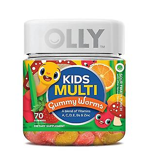 Olly Kids Multivitamin Sour Fruity Punch Gummy Worms