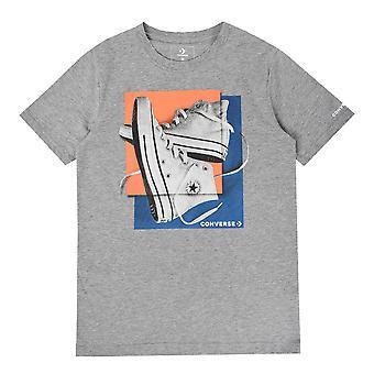 Converse Sneaker Quadrate Junior T-Shirt Shirt T-Shirt grau