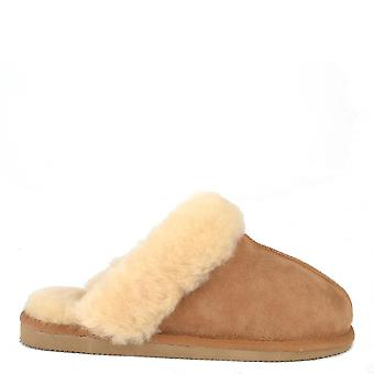 Shepherd of Sweden Jessica Chestnut Sheepskin Slipper