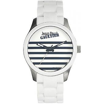 Uhr Jean Paul Gaultier 8501120 - Bicolore Stahl weiß und Silber Marin Zifferblatt