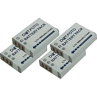 4 x Dot.Foto Ricoh DB-90 reemplazo batería - 3.7v / 1800mAh