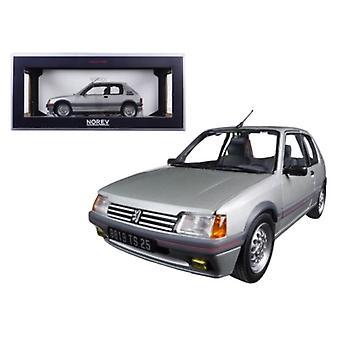 1988 Peugeot 205 Gti 1.6 Futura Grey 1/18 Diecast Model Car by Norev