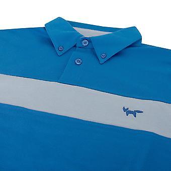 Wolsey Mens Fabric Mix Chest Stripe Lightweight Golf Polo Shirt