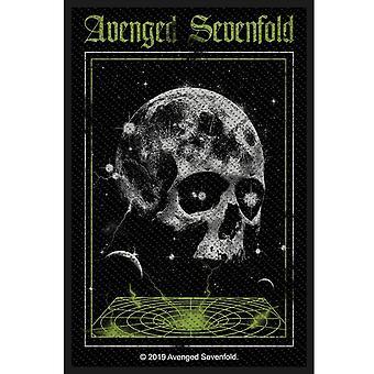 Avenged Sevenfold Vortex Skull sew-on cloth patch 100mm x 45mm  (rz)
