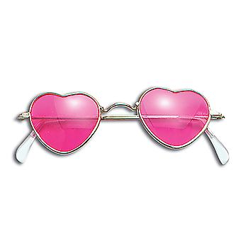 Bristol Novelty Unisex Adults Heart Shaped Glasses