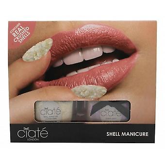 Ciate Shell Manicure (Wish Upon A Star Fish) Gift Set 13.5ml Nagellak in Halo + 20g Geplette Schelpen + Trechter + Tray