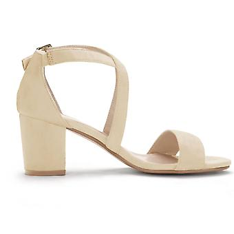Allegra K Women's Crisscross Ankle Strap Block Heel Sandals