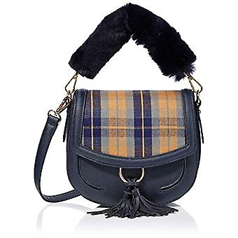 HotterAdeline Donna Bucket BagBlue (Navy/Check)21x18x61 Centimeters (W x H x L)