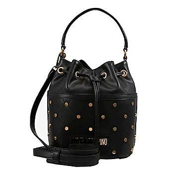 الحب موسكينو Jc4097pp1a حقيبة دلو المرأة السوداء (أسود) 17x21x25 سم (W x H x L)