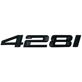 Matt Black BMW 428i Car Model Rear Boot Number Letter Sticker Decal Badge Emblem For 4 Series F32 F33 F36 G22 G23 G26