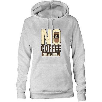 Moletom feminino capuz hoodie - Sem café, sem workee