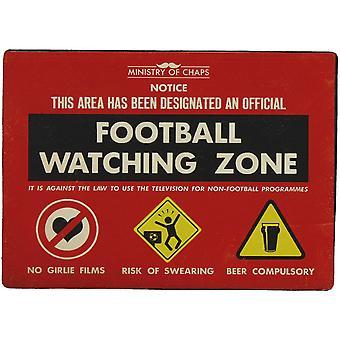 Futebol, observando o sinal do Metal Zone - Ministério de rachaduras por Harvey Makin - engraçado