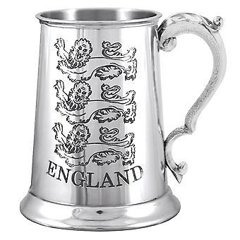 Anglia 3 Lions logo Pewter Tankard-1 halbă