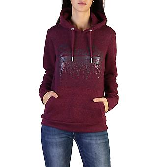 Superdry Original Women Fall/Winter Sweatshirt - Red Color 37763