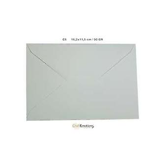 CraftEmotions Kirjekuori C6 valkoinen - 500 PC 16,2x11,5 cm / 90 GR