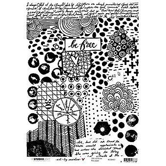 Studio Licht Reis Papier A4 Kunst von Marlene 4.0 nr 01 RICEBM01
