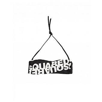 Dsquared2 Mirrored Logo Bandeau Bikini Top