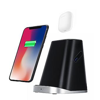 Bakeey 2 in 1 9v qi fast wireless charger dock pad stand holder for iphone 11 x xs xr airpods