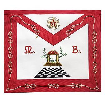 Masonic scottish rite apron - aasr - master mason - checkered floor