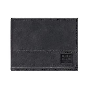 Quiksilver New Stitchy Faux Leather Wallet in Black