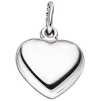 Kinderen hanger hart 925 sterling zilveren rhodium-verguld hart hanger kinderen hanger