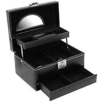 Friedrich leather jewelry case jewelry box LONDON black mirror Castle
