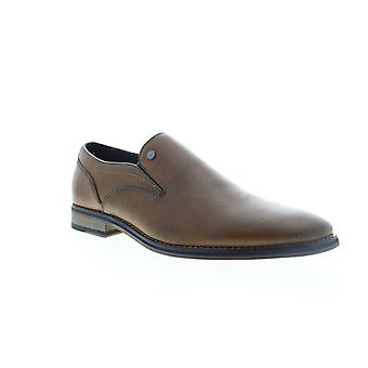 Robert Wayne Seger  Mens Brown Leather Casual Slip On Loafers Shoes