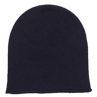Johnstons of Elgin Jersey Roll Trim Hat - Navy