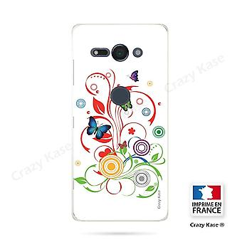 Hull For Sony Xperia Xz2 Compact Soft Pattern Butterflies And Circles On White Background