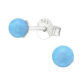 Bold - 925 Sterling sølv Opal og Semi ædle øret knopper - W23611x