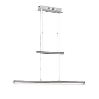 Wofi Gwen - Dimmable LED 1 Light Pendant Light Matt Nickel - 705001640000
