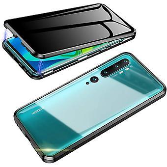Mobile Schale mit doppelseitigem gehärtetem Glas für XiaoMi CC9 PRO - Schwarz