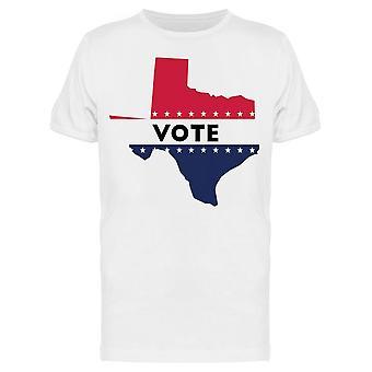 Votez Texas State Map Tee Men-apos;s -Image par Shutterstock
