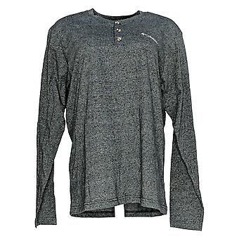 Columbia Donne's Top A maniche lunghe Henley Heathered Nero