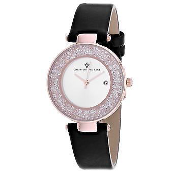 Christian Van Sant Frauen's Dazzle Silber Zifferblatt Uhr - CV1224