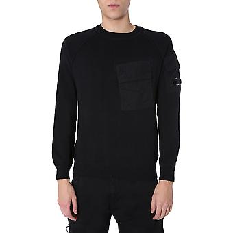 C.p. Compañía 08cmkn1113a005367m999 Hombres's Suéter de algodón negro