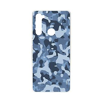 Romp voor Xiaomi Redmi Note 8 Soft Blue Militaire Camouflage