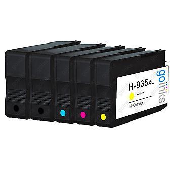1 Ensemble compatible de cartouches d'encre d'imprimante HP 934 & 935 (HP 934XL & 935XL)