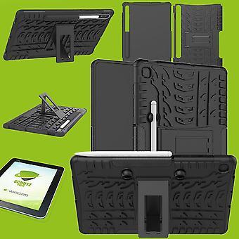 Para Samsung Galaxy Tab S6 Lite P610 P615 Hybrid Outdoor Protective Case Preto Case + 0.3 H9 Protetor Glass