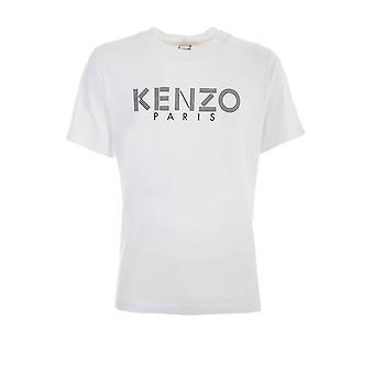 Kenzo F005ts0924sg01 Men'camiseta de algodão branco