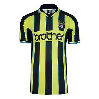 Score Draw Manchester City 1999 Wembley Retro Football Shirt