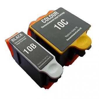 RudyTwos Replacement for Kodak 10B 10C Set Ink Cartridge Black & Tri-Colour Compatible with ESP 3, ESP 5, ESP 7, ESP 9, ESP 3200, ESP 3250, ESP 5000, ESP 5100, ESP 5200, ESP 5210, ESP 5250, ESP 5300,