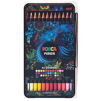 Uni POSCA Oil Colour Pencil Box Set of 36 Colours