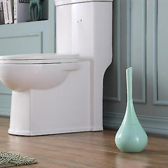 Modern Toilet Brush Set Ceramic Base Plastic Handle - Vase Shape Holder Creative Bowl