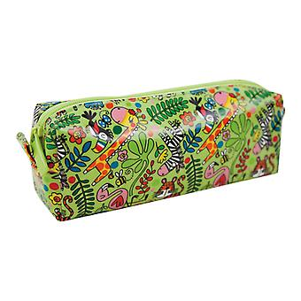 Childrens green jungle pencil case