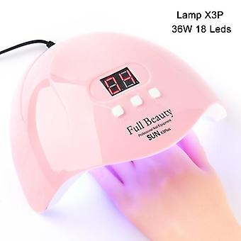 UV Lamp For Manicure - USB Smart Timing LED Nail Dryer Lamp Tool
