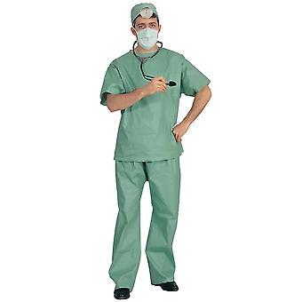 Doctor Surgeon Medical Emergency Uniform Adult Mens Costume & Stethoscope